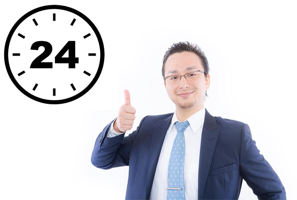 市場が開いてさえいれば24時間取引可能